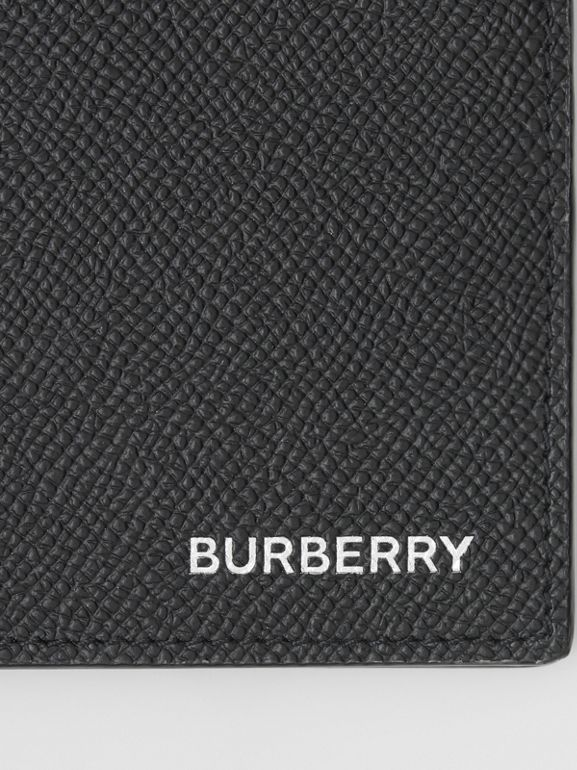 Grainy Leather International Bifold Wallet in Black - Men | Burberry Australia - cell image 1