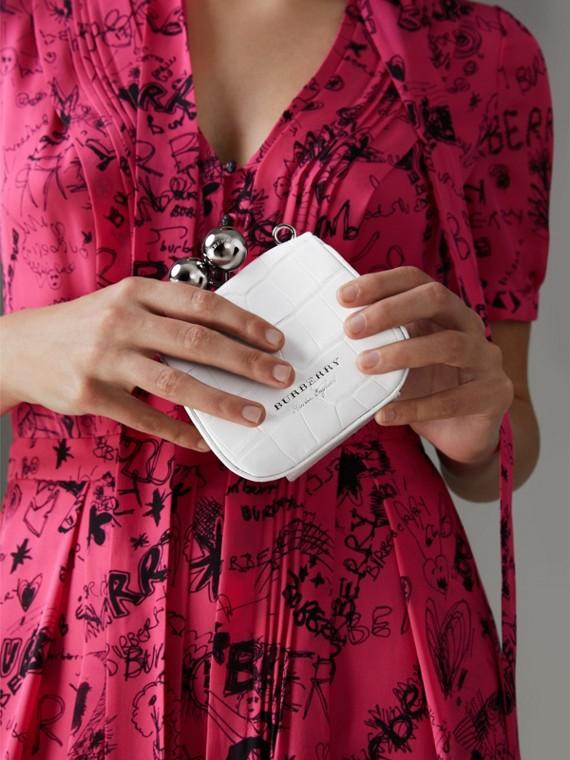 Mini Alligator Frame Bag in White - Women | Burberry United Kingdom - cell image 3