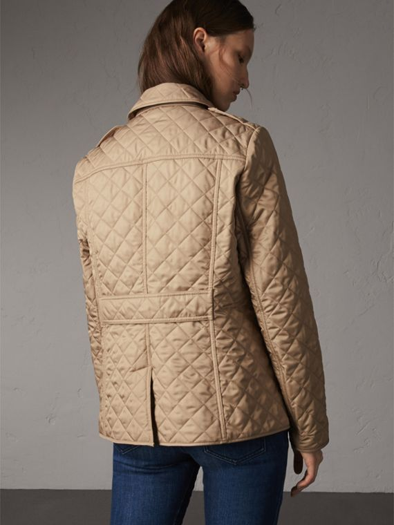 Diamond Quilted Jacket in Canvas - Women | Burberry Singapore - cell image 2