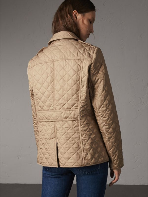 Diamond Quilted Jacket in Canvas - Women | Burberry Canada - cell image 2