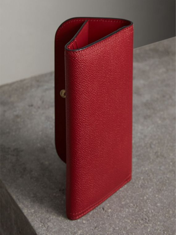 Leather Continental Wallet with Removable Coin Case in Parade Red - Women | Burberry Singapore - cell image 3