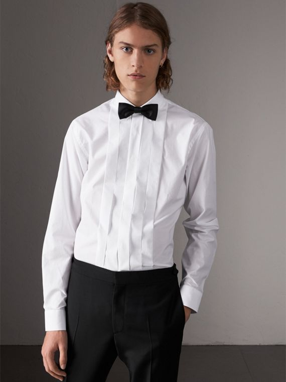 Modern Fit Cotton Poplin Dress Shirt in White