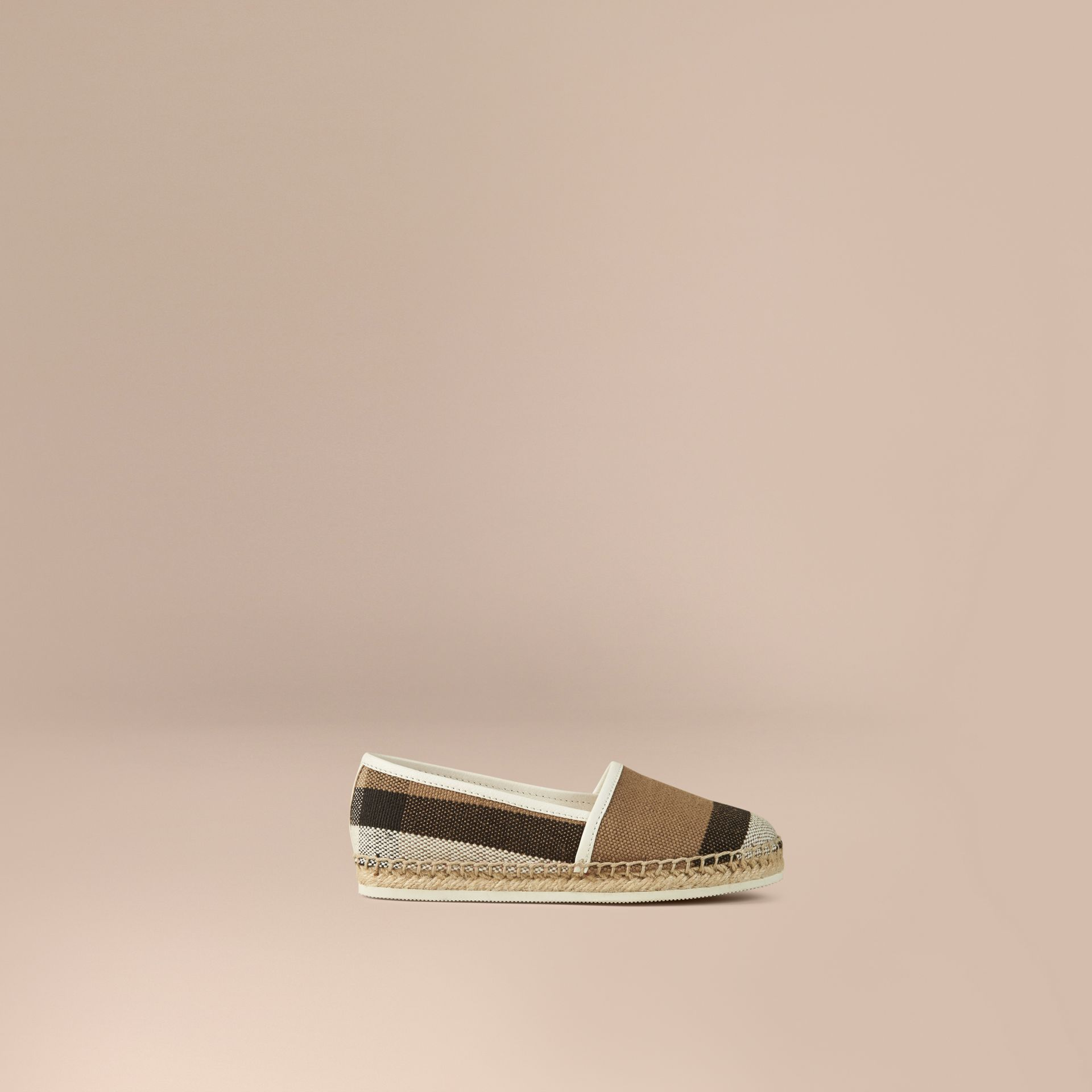 Off white Canvas Check Espadrilles Off White - gallery image 1