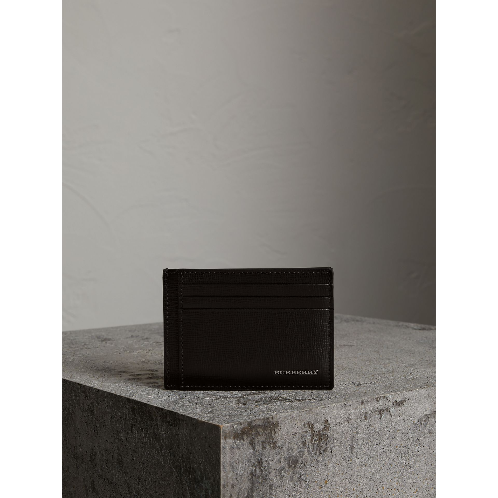 London Leather Card Case in Black | Burberry - gallery image 3