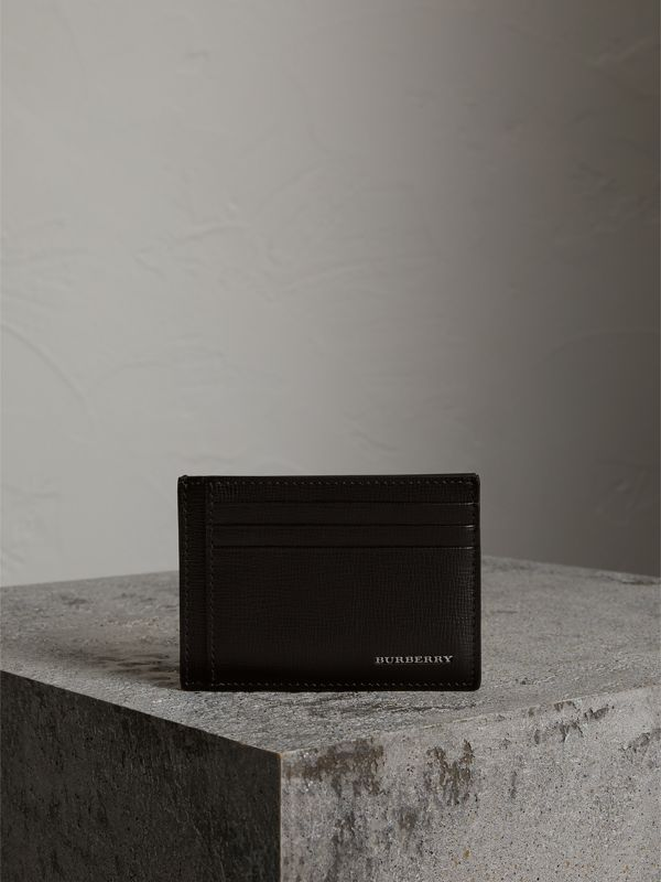 London Leather Card Case in Black | Burberry - cell image 3