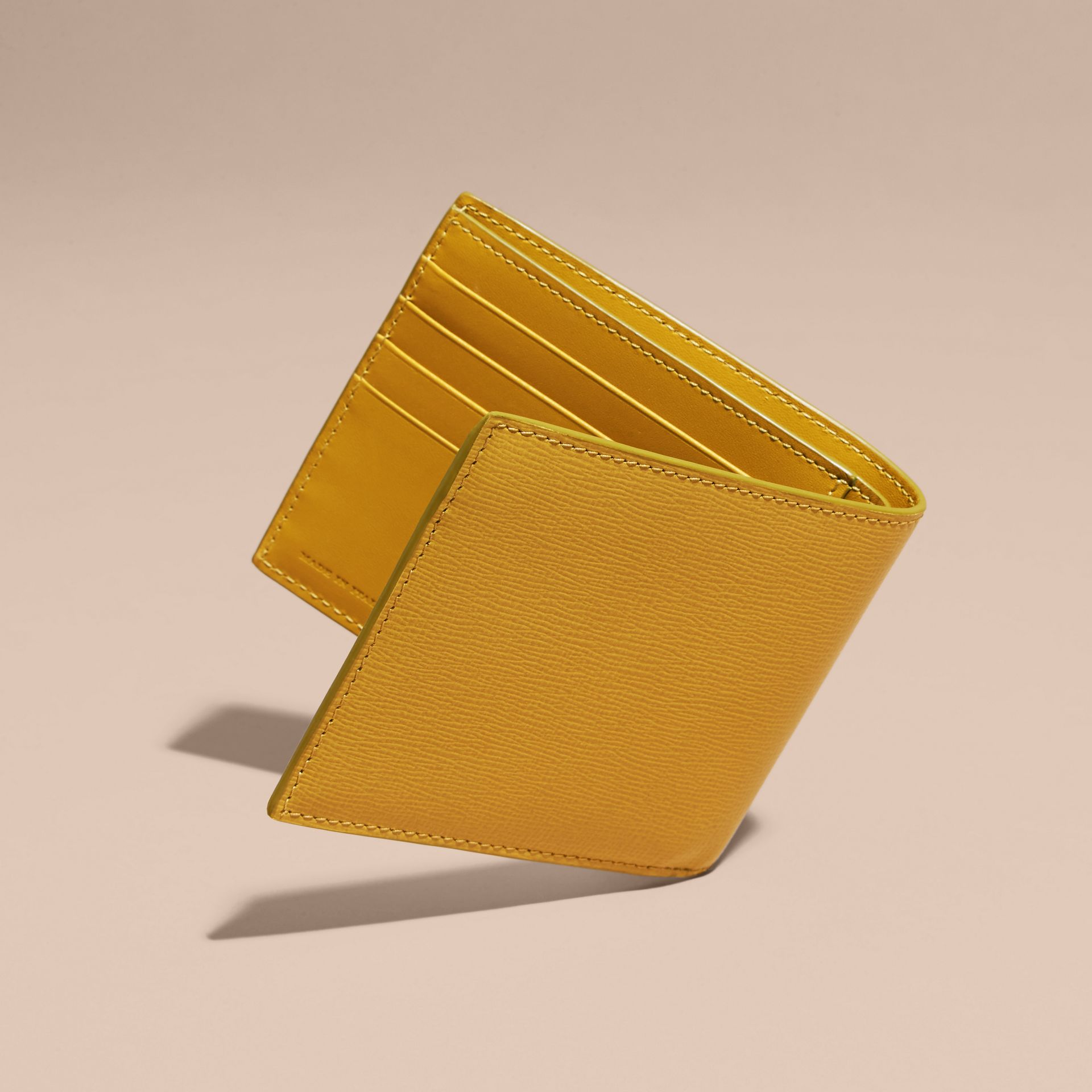 London Leather ID Wallet in Larch Yellow - gallery image 4