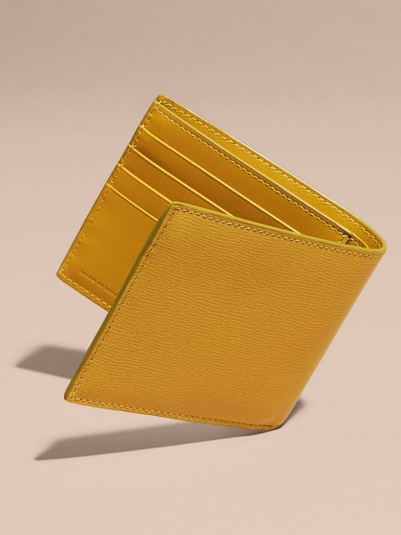 London Leather ID Wallet in Larch Yellow - cell image 3