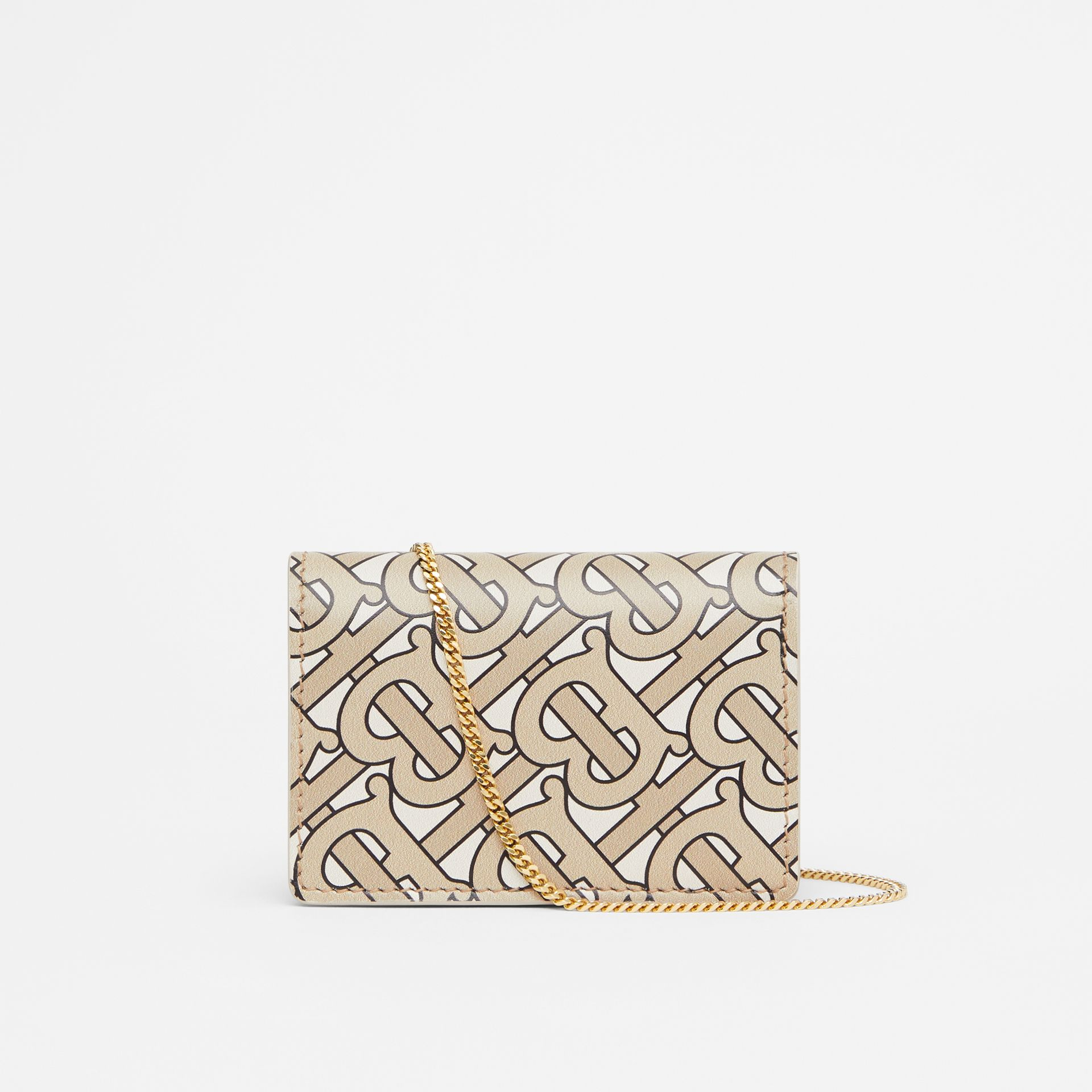 Monogram Print Card Case with Detachable Strap in Beige - Women | Burberry United States - gallery image 7