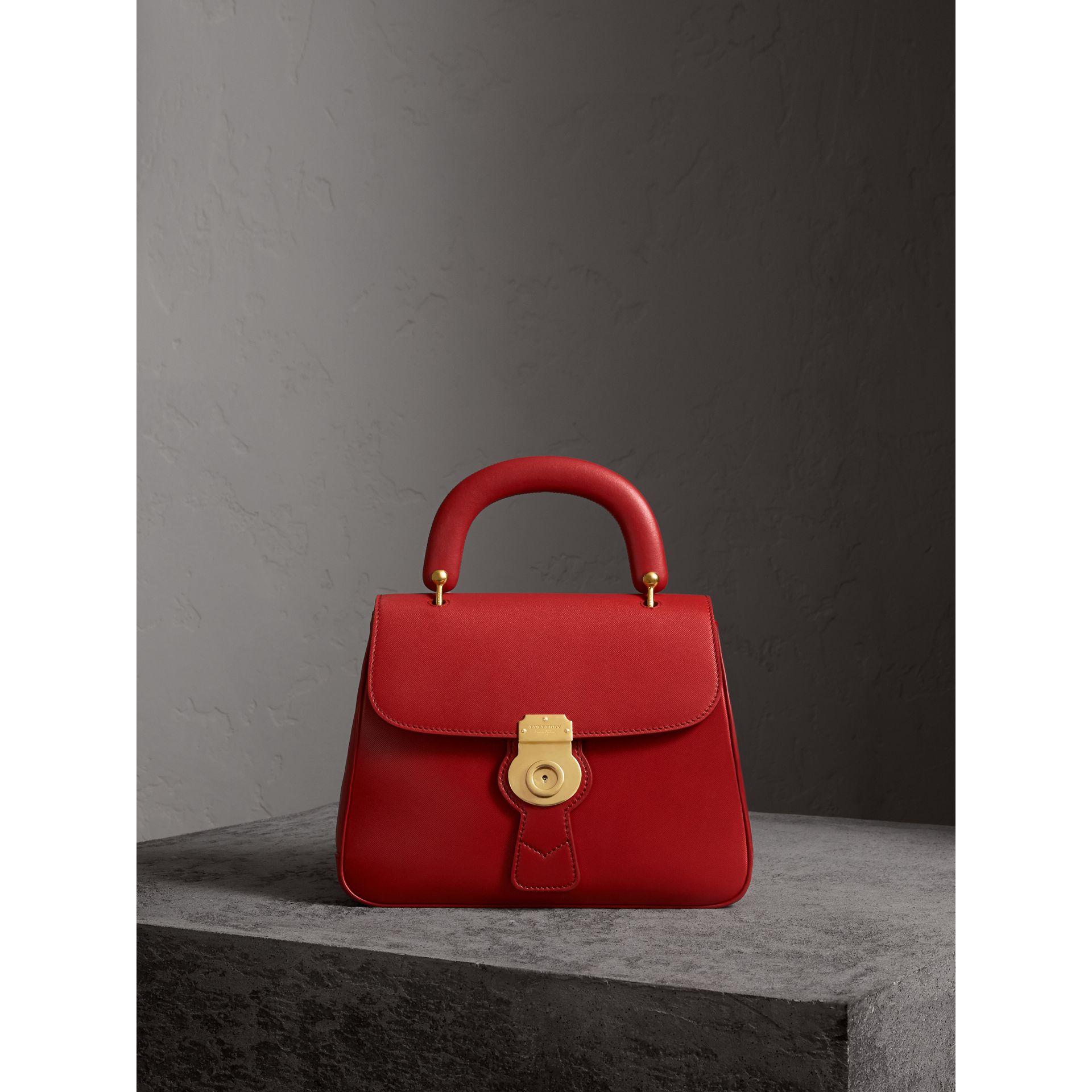 The Medium DK88 Top Handle Bag in Coral Red - Women | Burberry - gallery image 1