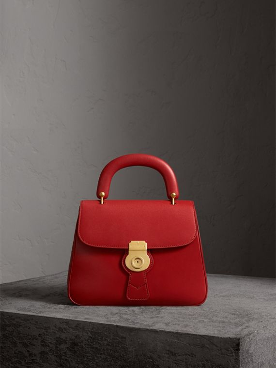 The Medium DK88 Top Handle Bag in Coral Red