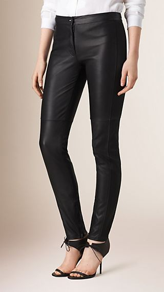 Panelled Lambskin Trousers
