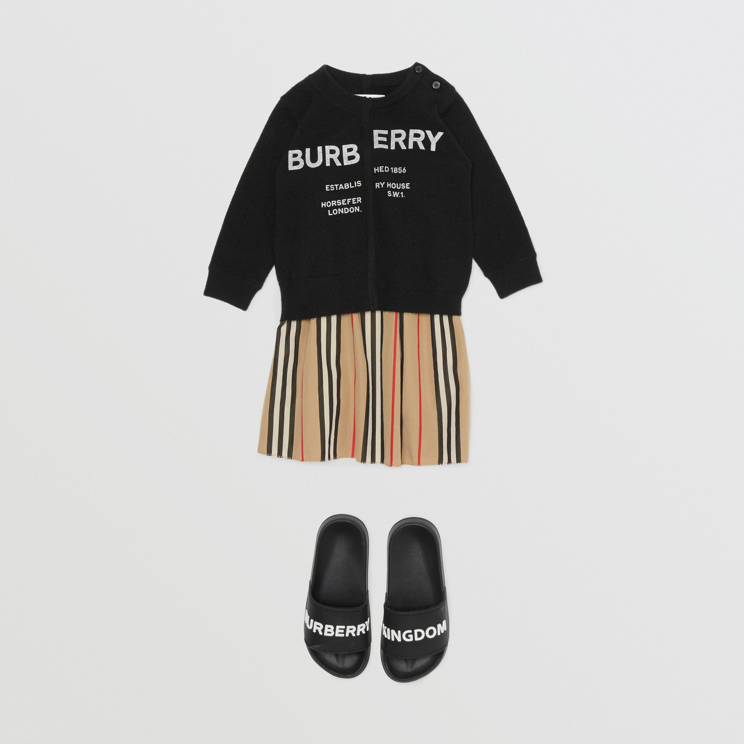 Horseferry Print Cashmere Sweater in Black | Burberry Hong Kong S.A.R. - 3
