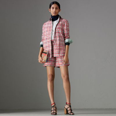 PAINTED CHECK COTTON SHIRT