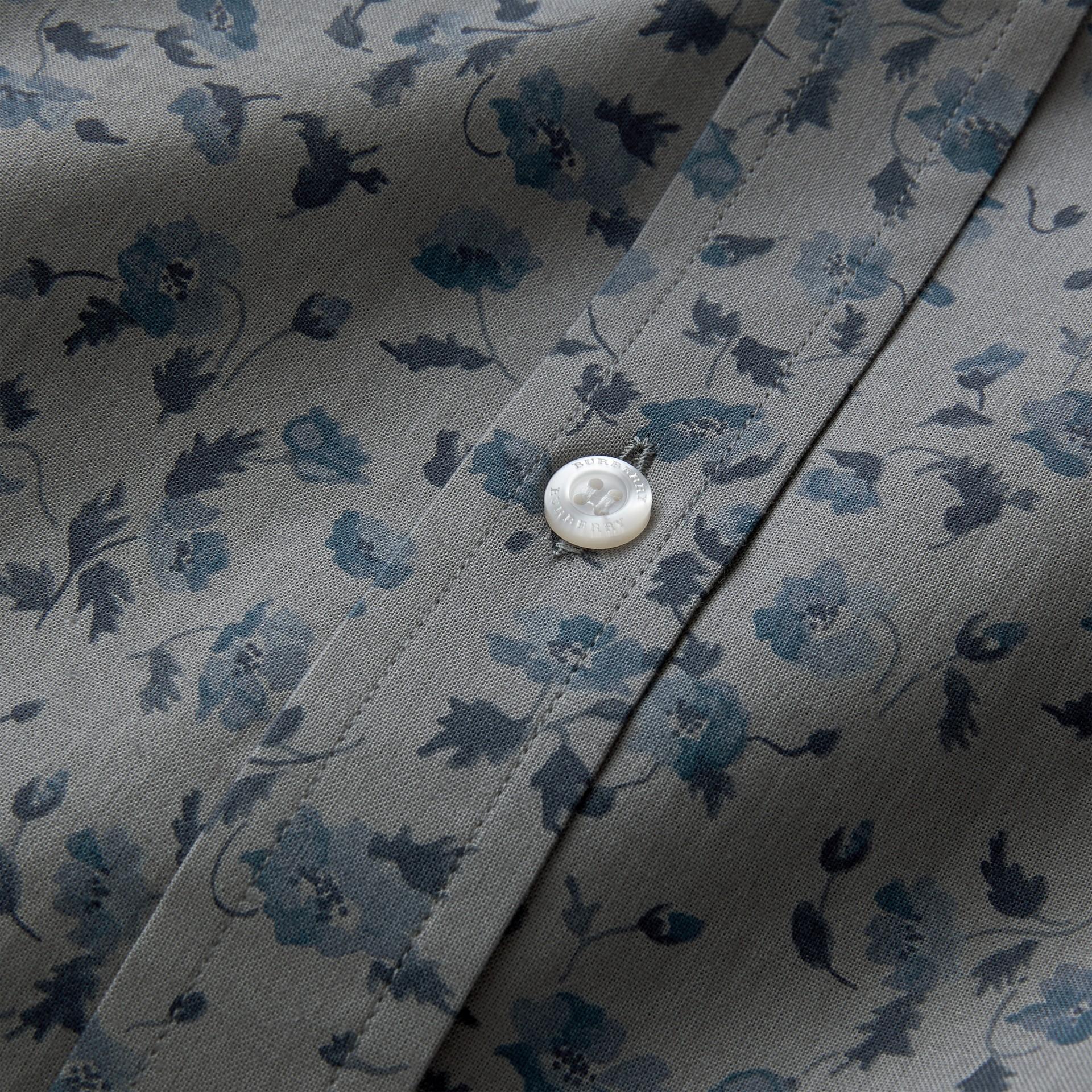 Floral Print Cotton Poplin Shirt - gallery image 2