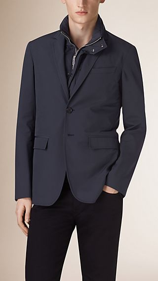 Technical Blazer with Detachable Down-filled Warmer