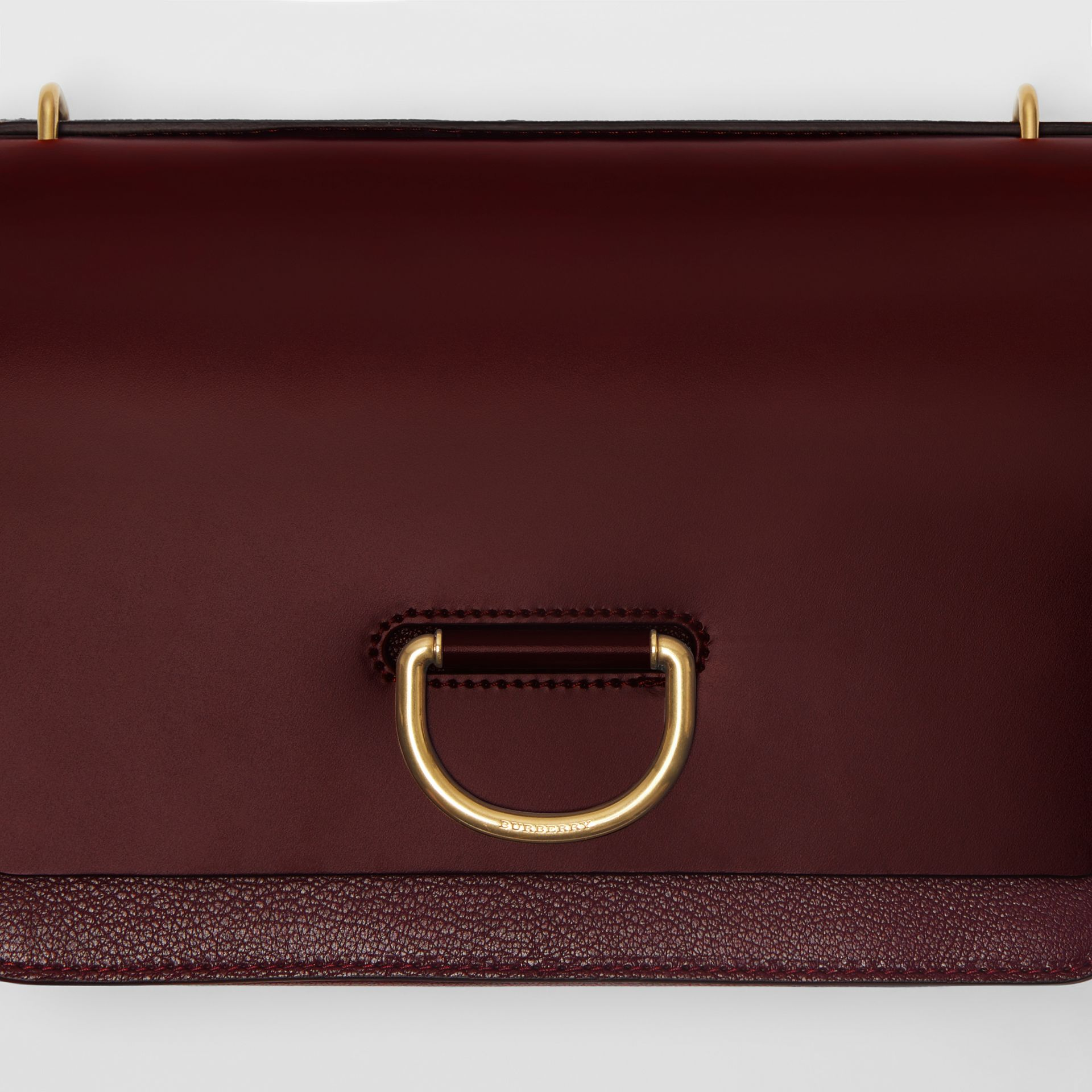 The Medium Leather D-ring Bag in Deep Claret - Women | Burberry United States - gallery image 1