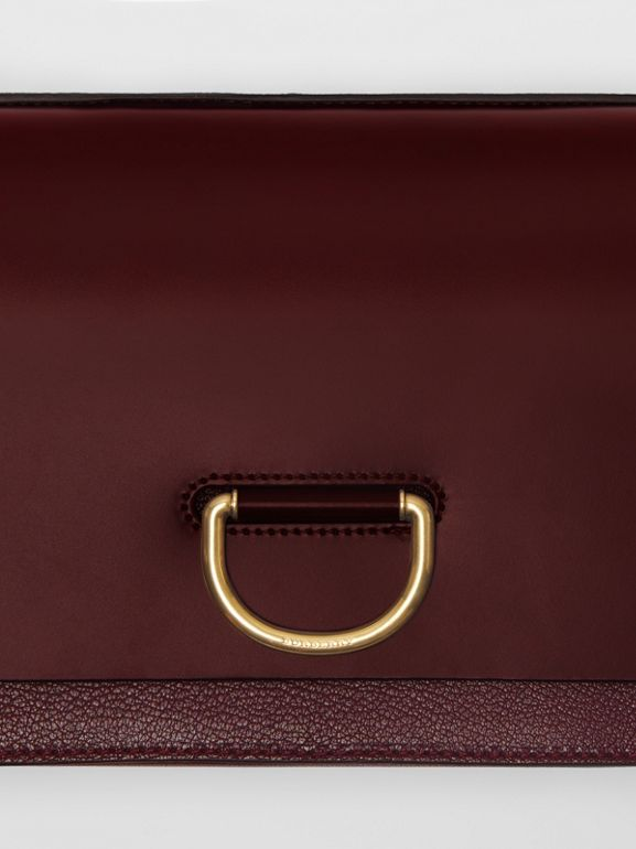 The Medium Leather D-ring Bag in Deep Claret - Women | Burberry Singapore - cell image 1