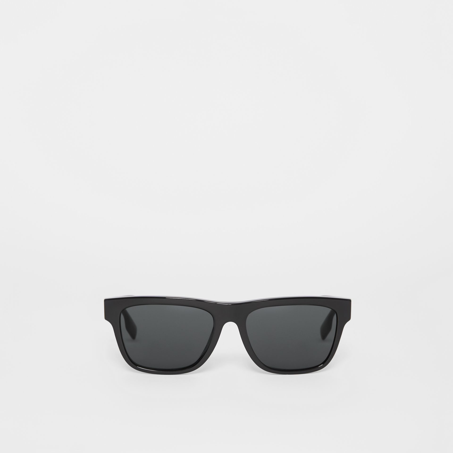 Square Frame Sunglasses in Black - Men | Burberry Canada - gallery image 0
