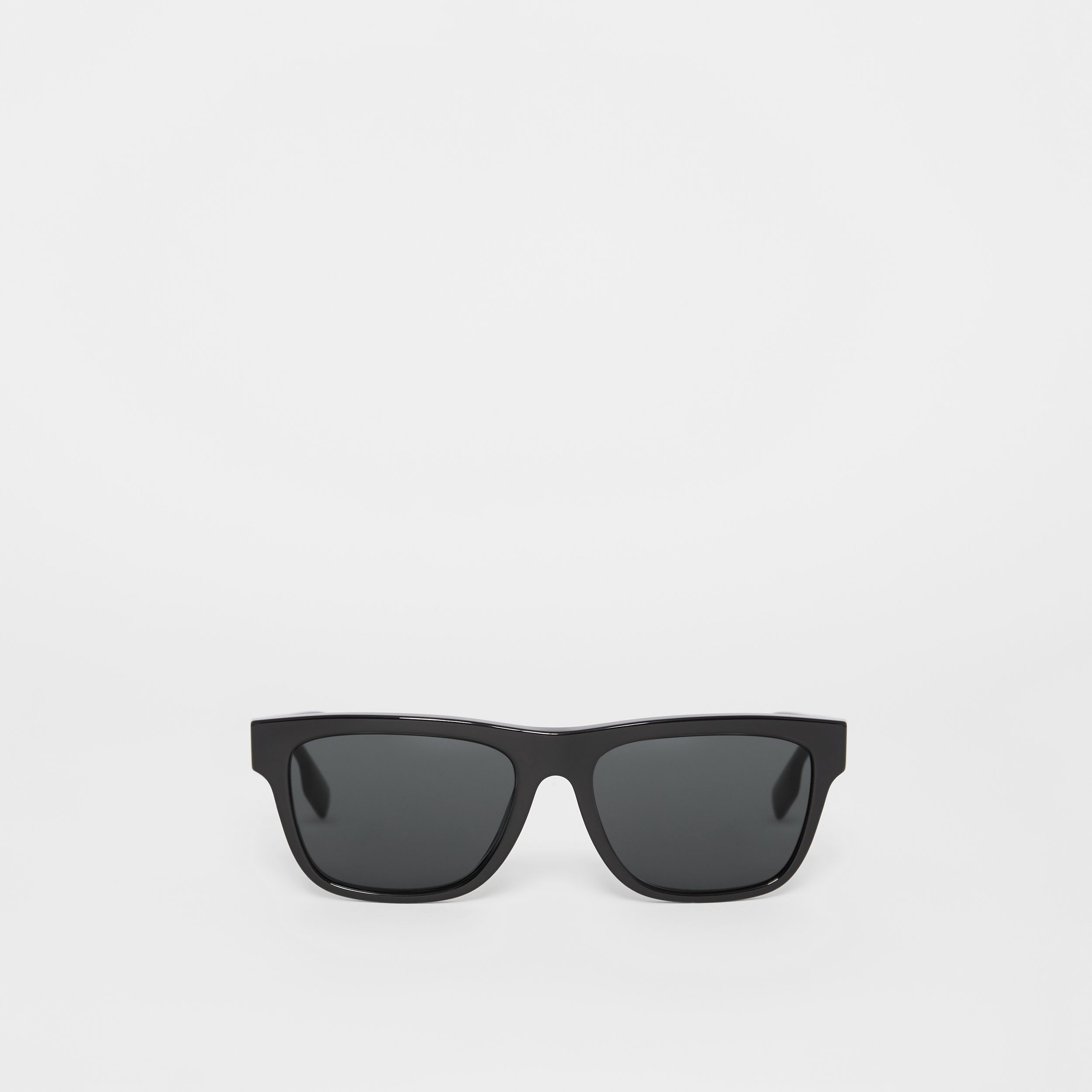 Square Frame Sunglasses in Black - Men | Burberry Australia - 1