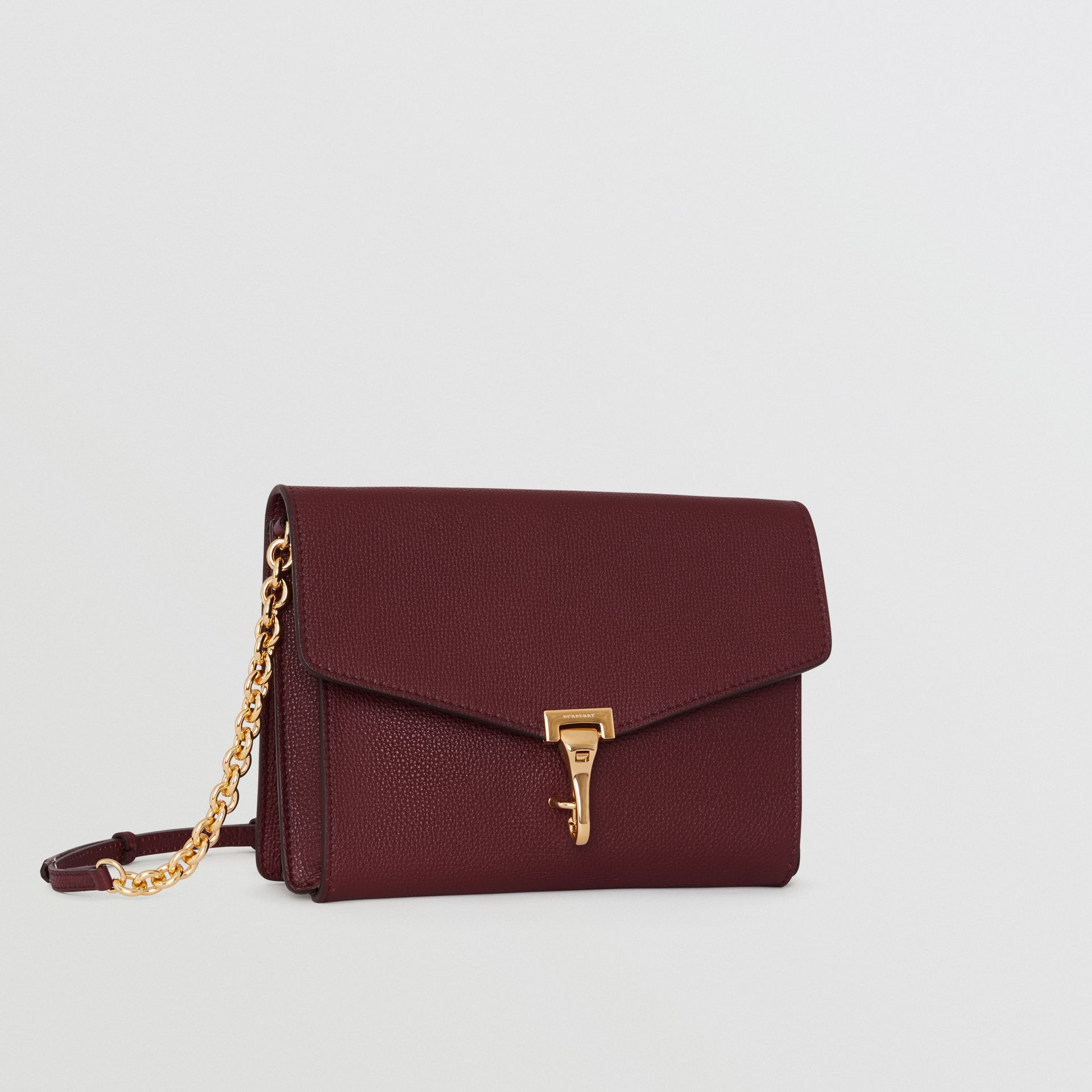 Small Leather Crossbody Bag in Mahogany Red - Women | Burberry United States - gallery image 6