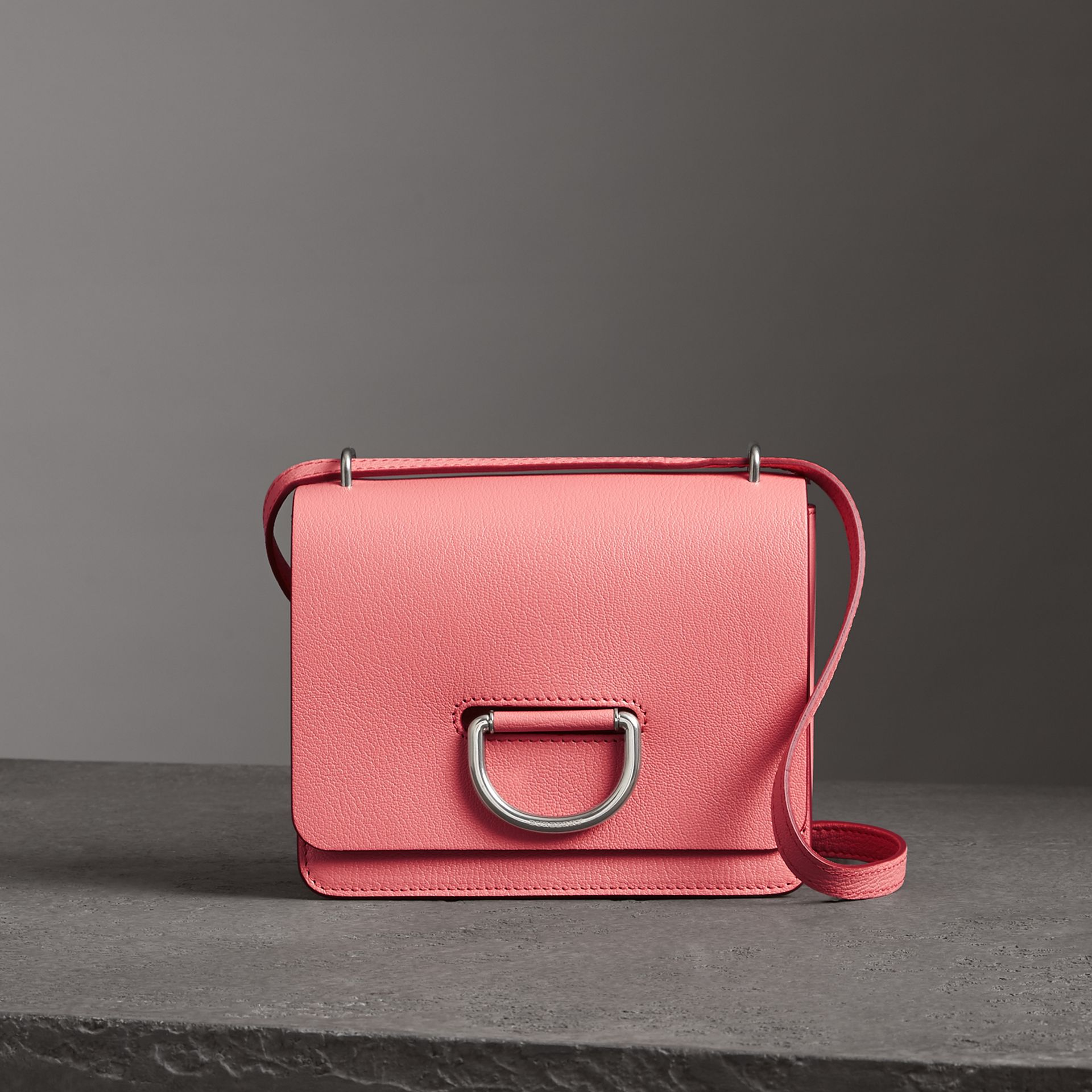 The Small Leather D-ring Bag in Bright Coral Pink - Women | Burberry Canada - gallery image 0