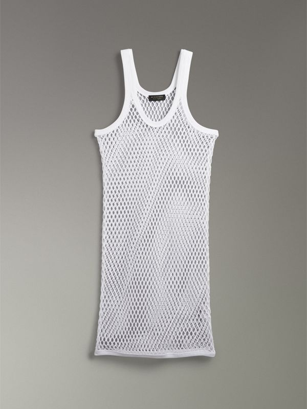 Tanktop aus Baumwolle in Netzoptik (Optic-weiss) - Damen | Burberry - cell image 3