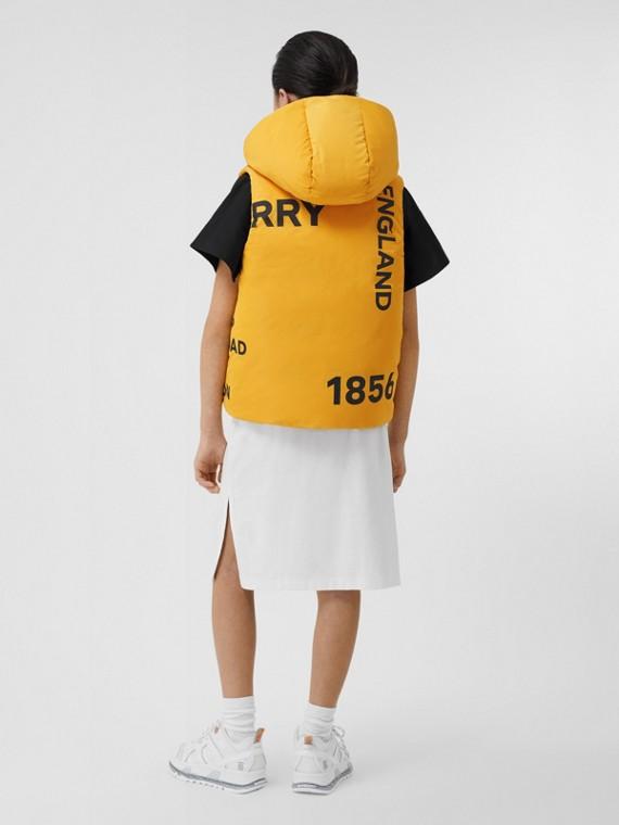 Reversible Horseferry Print Shape-memory Taffeta Gilet in Souwester Yellow