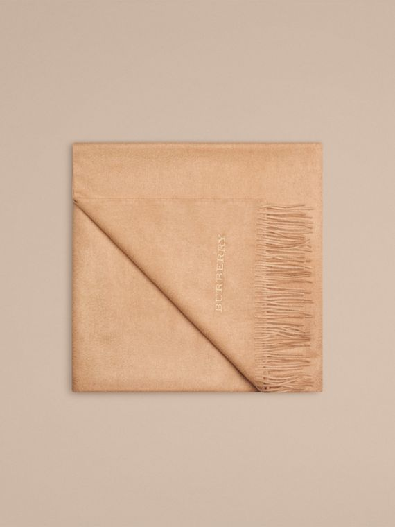 Cashmere Blanket in Camel | Burberry - cell image 3