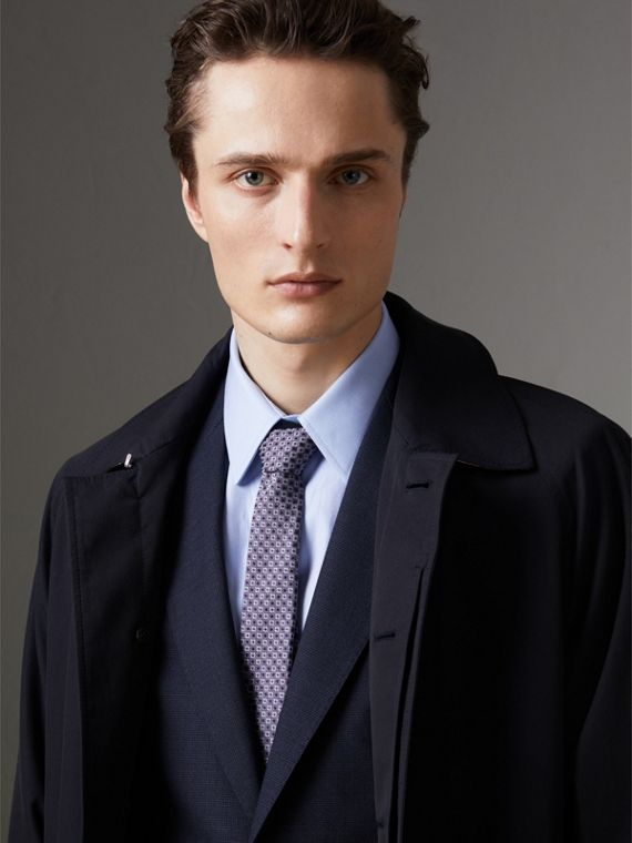 Slim Cut Daisy Silk Jacquard Tie in Lilac - Men | Burberry United States - cell image 3
