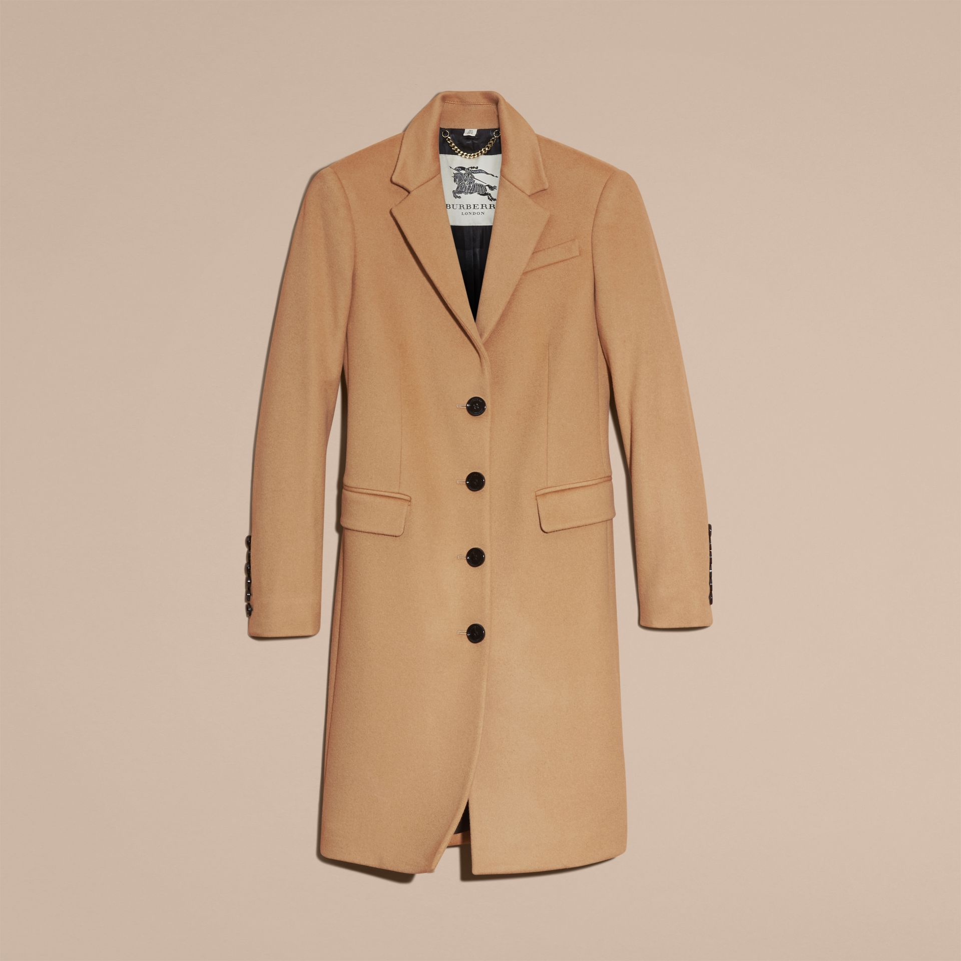 Camel Tailored Wool Cashmere Coat Camel - gallery image 4