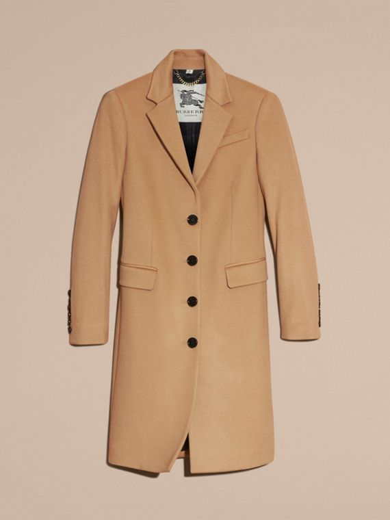 Camel Tailored Wool Cashmere Coat Camel - cell image 3