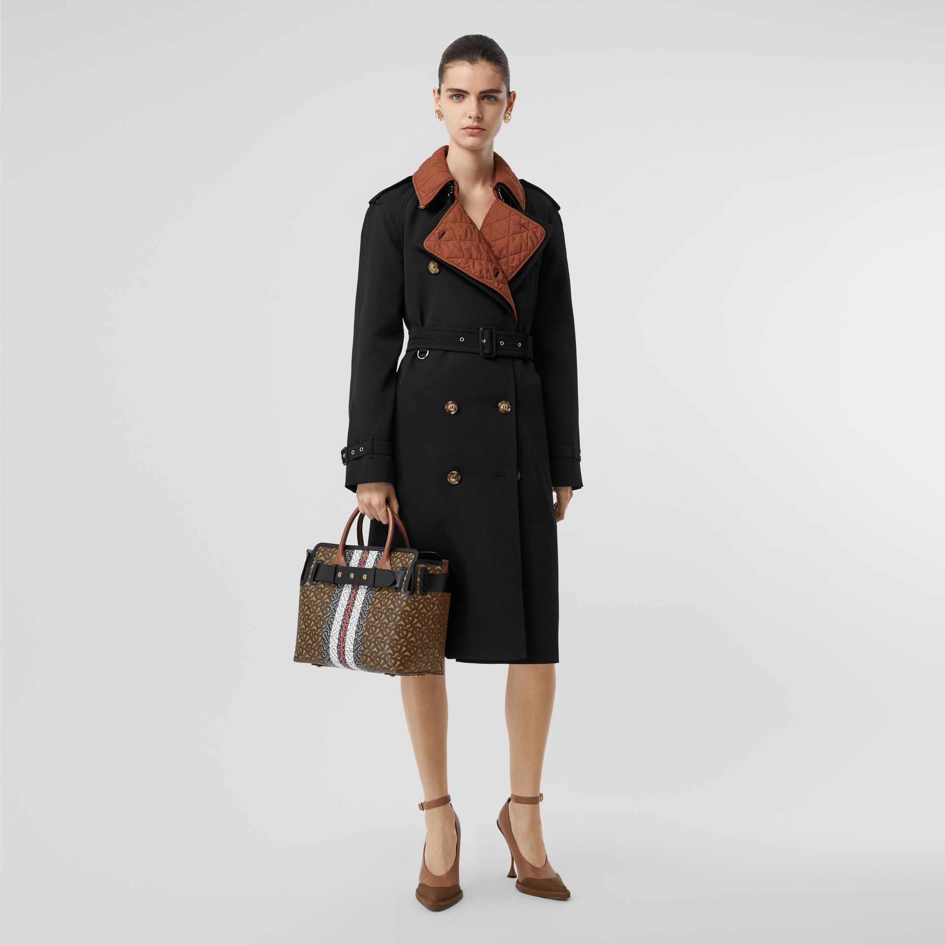 The Small Belt Bag aus Eco-Canvas mit Monogrammmuster im Streifendesign (Lederbraun) - Damen | Burberry - Galerie-Bild 8