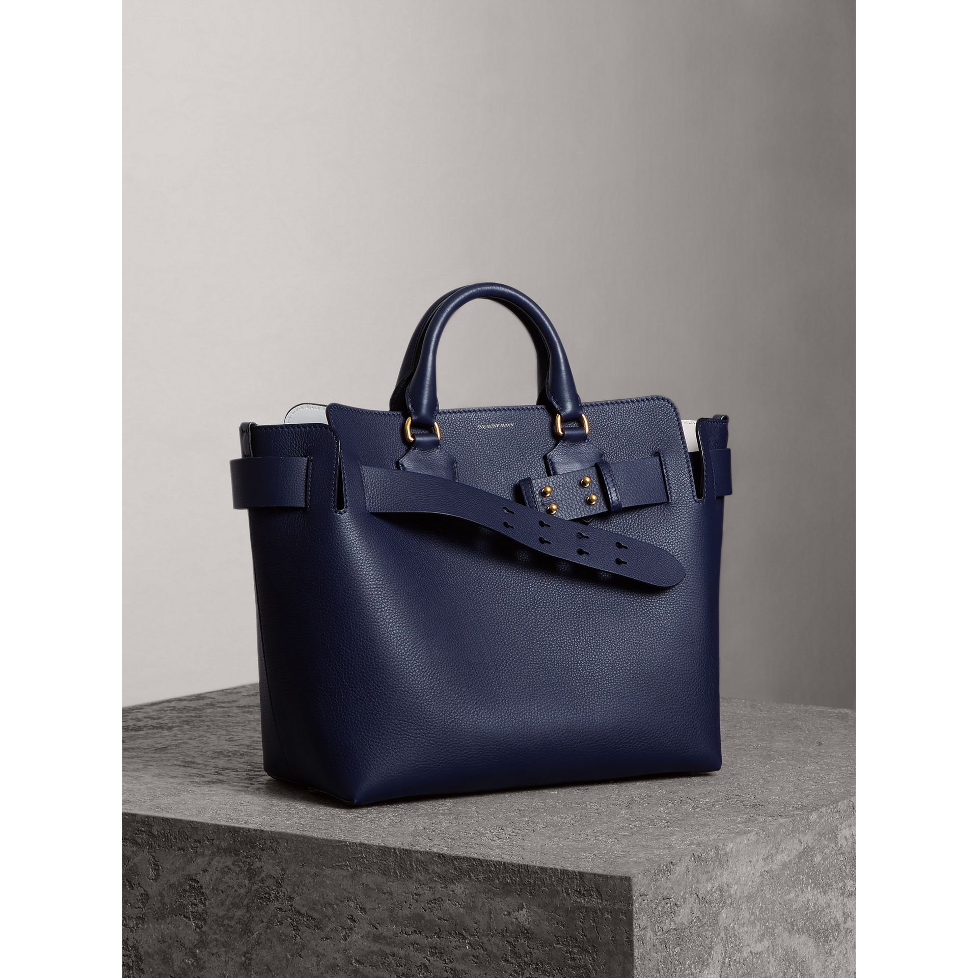 The Medium Leather Belt Bag in Regency Blue - Women | Burberry - gallery image 7