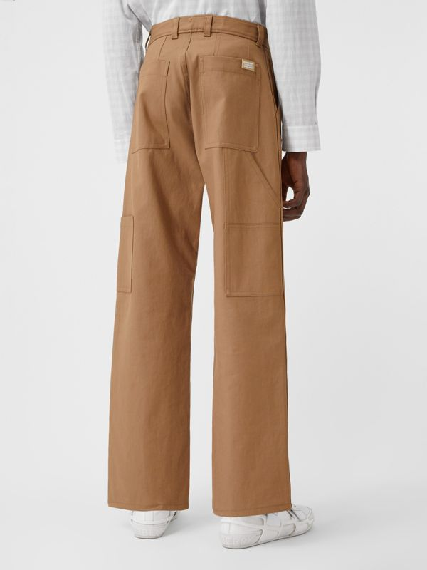 Cotton Twill Tailored Trousers in Warm Walnut | Burberry United Kingdom - cell image 2