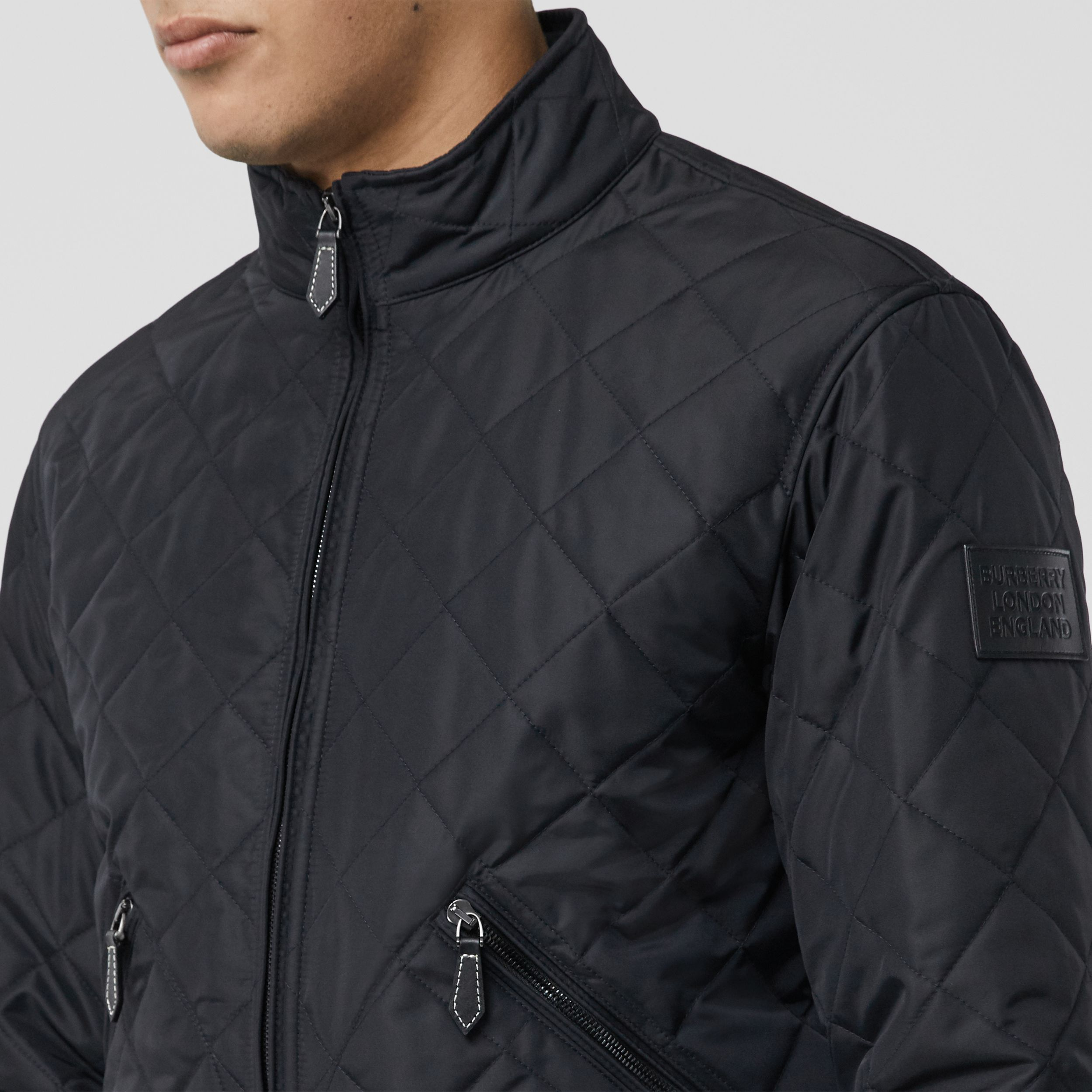 Diamond Quilted Thermoregulated Jacket in Navy - Men | Burberry Australia - 2