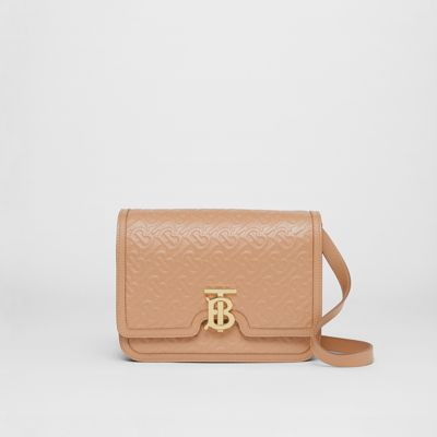 Medium Monogram Leather Tb Bag by Burberry