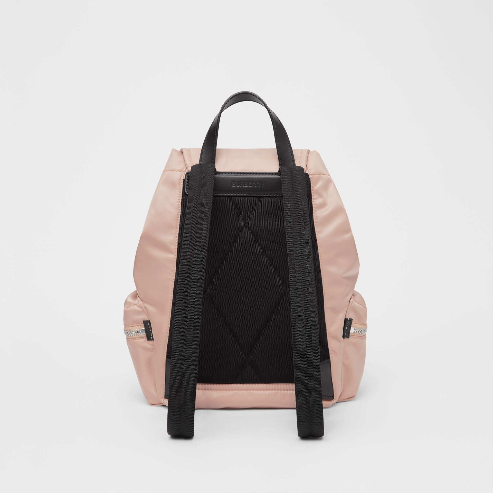 The Medium Rucksack in Logo Print ECONYL® in Rose Beige - Women | Burberry United Kingdom - gallery image 7