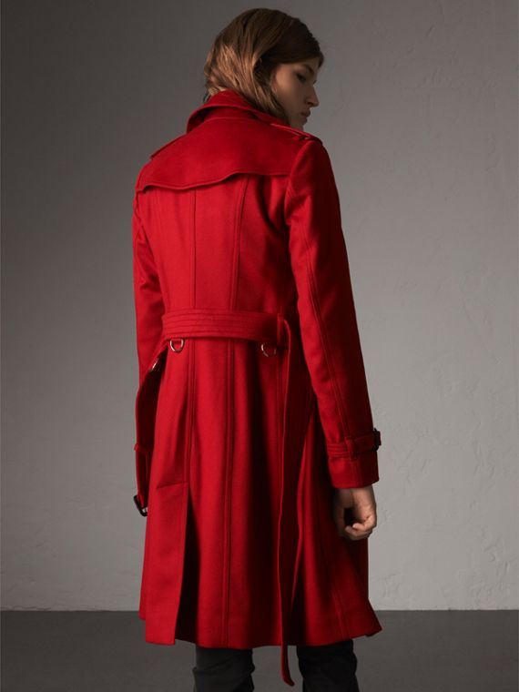 Sandringham Fit Cashmere Trench Coat in Parade Red - Women | Burberry - cell image 2