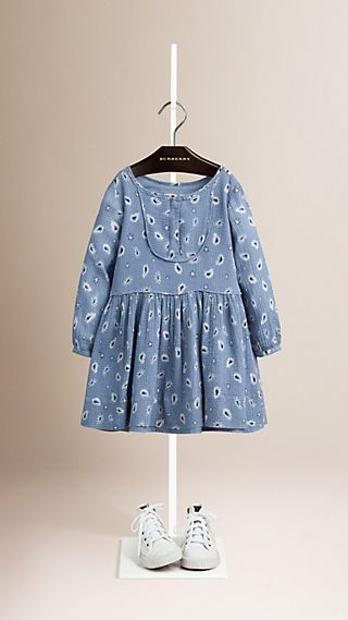 Paisley Print Seersucker Cotton Dress