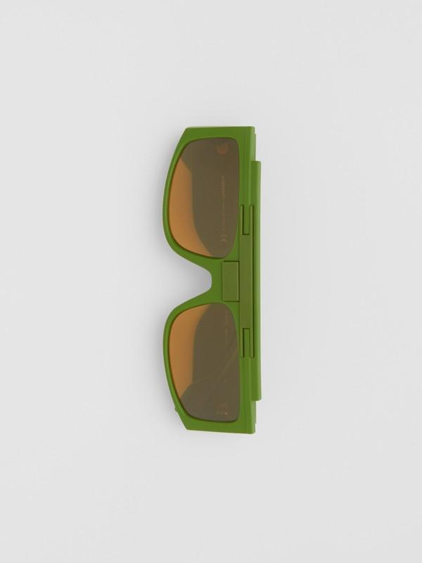 Rectangular Frame Sunglasses in Green - Women | Burberry - cell image 3