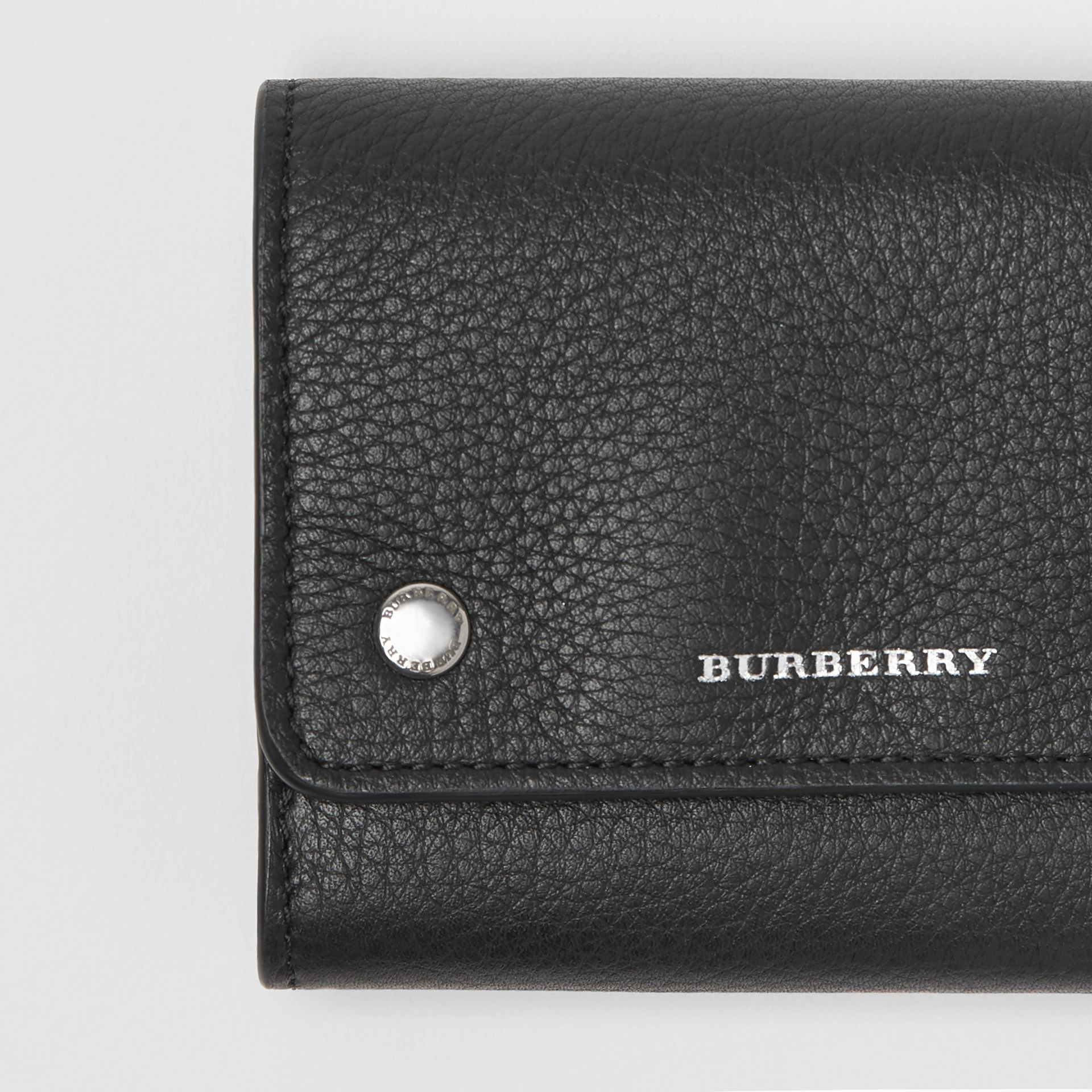Small Leather Folding Wallet in Black - Women | Burberry - gallery image 1