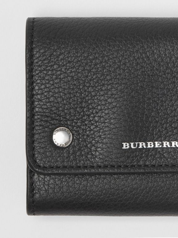 Small Leather Folding Wallet in Black - Women | Burberry - cell image 1