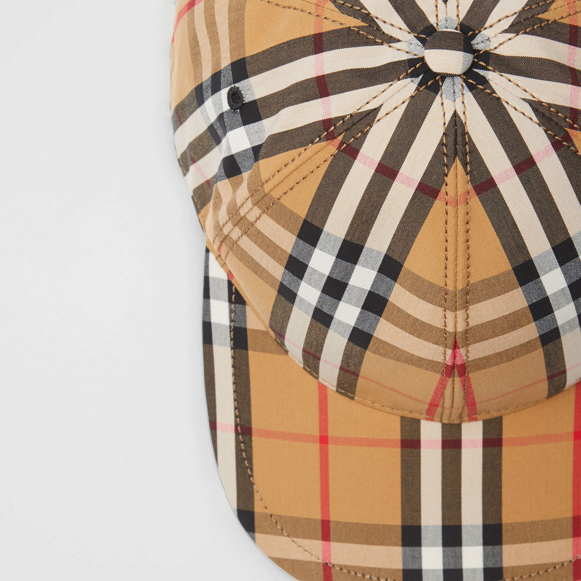 Vintage Check Baseball Cap in Antique Yellow | Burberry - gallery image 1