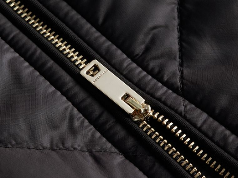 Collarless Diamond Quilted Lightweight Jacket in Black - Women | Burberry Hong Kong - cell image 1