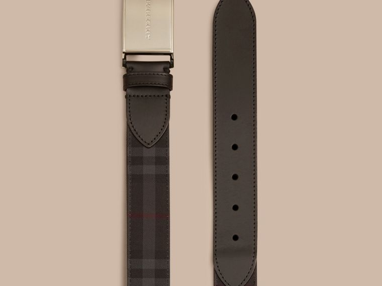 Horseferry Check and Leather Belt - Men | Burberry - cell image 2