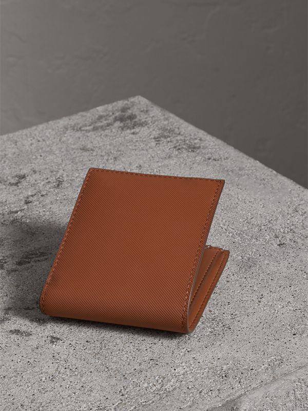 Trench Leather Bifold Wallet with Removable Card Case in Tan - Men | Burberry - cell image 2