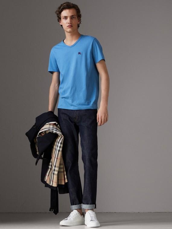 Cotton Jersey T-shirt in Light Azure
