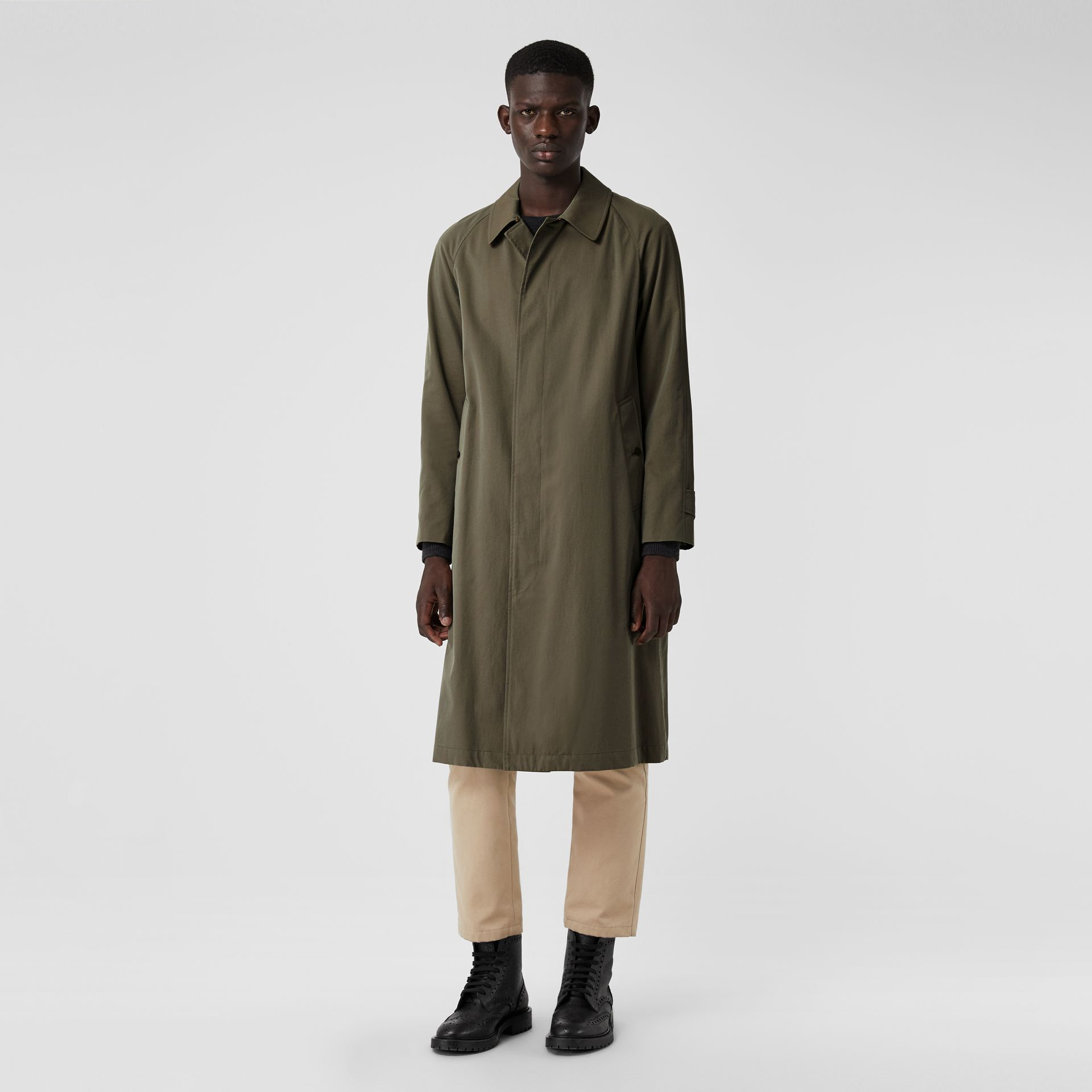 The Brighton Car Coat in Chalk Green - Men | Burberry United Kingdom - gallery image 5