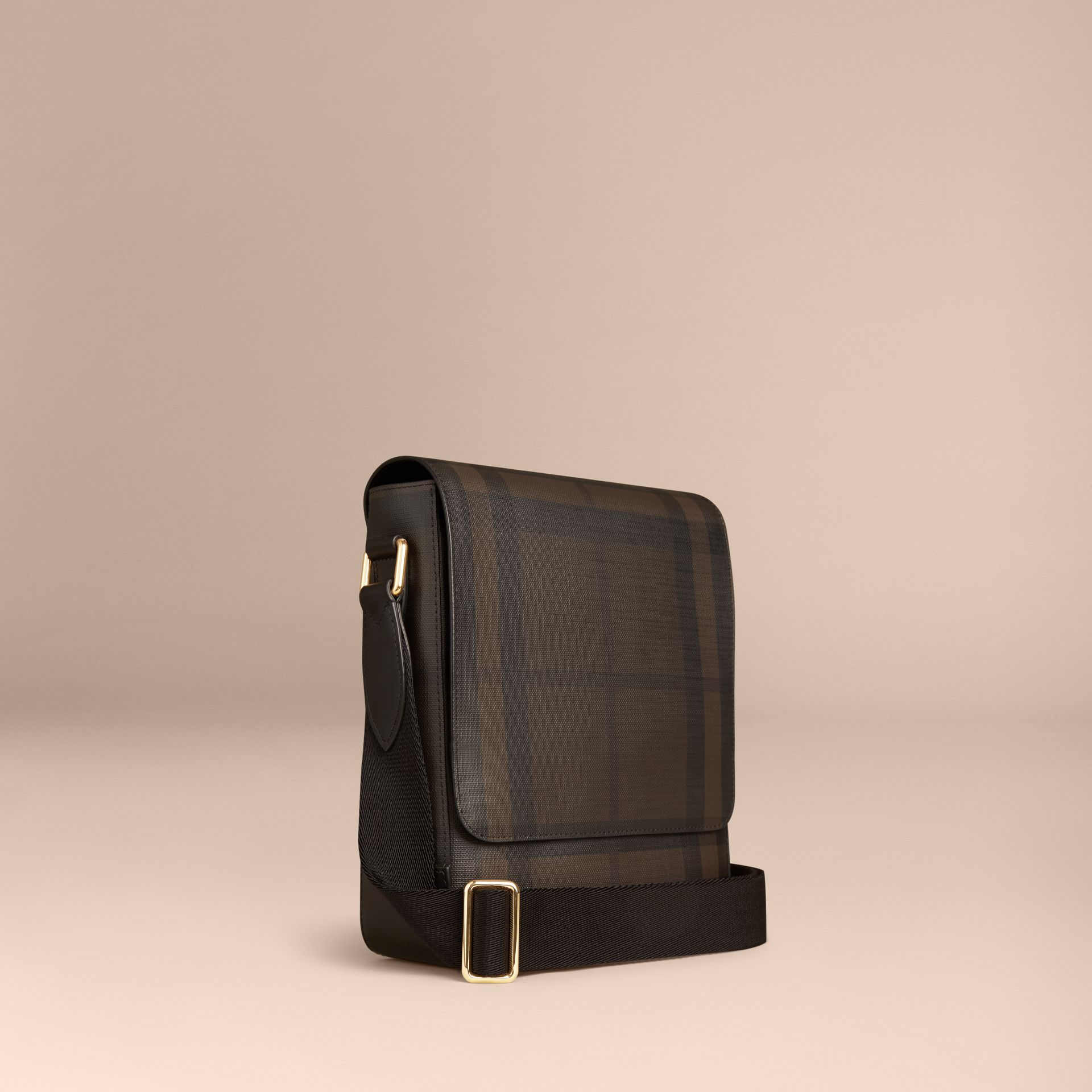 London Check Crossbody Bag in Chocolate/black - gallery image 1