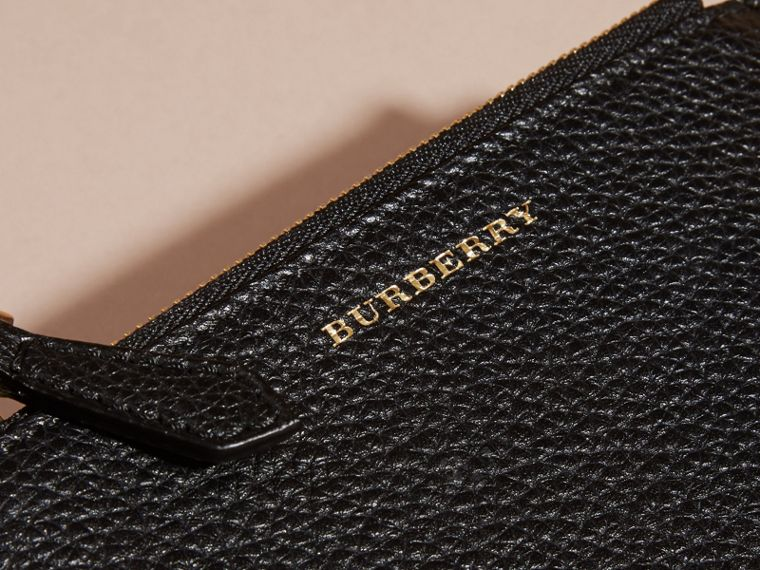 Leather Passport Wallet in Black | Burberry Canada - cell image 1